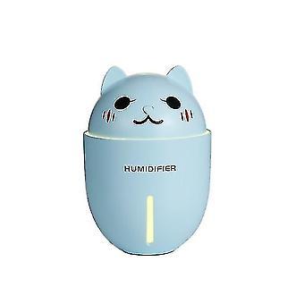 High quality 3 in 1 320ml usb air humidifier led light mini usb fan|humidifiers blue #4421