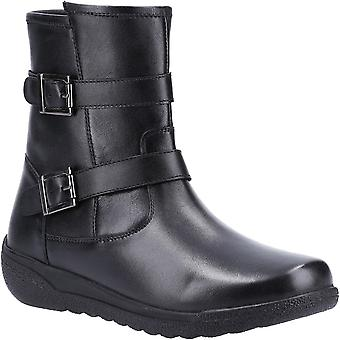 Fleet & Foster Womens Zambia Zip Up Leather Mid Boots