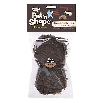 Pet 'n Shape Natural American Patties Beef Lung Dog Treats  - 5 count