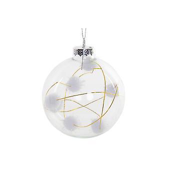 jul bauble dkd hjem dekor bomull krystall (8 x 8 x 8 cm)