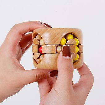Holz rotierende Magic Beans Cube Spiel Pädagogisches Puzzle Kong Ming für Kinder|
