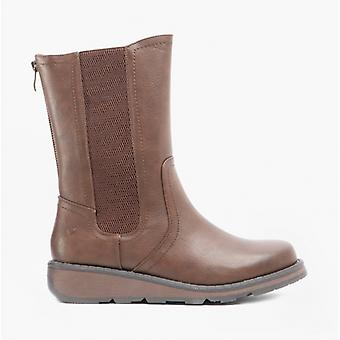 Heavenly Feet Trina Ladies Ankle Boots Chocolate