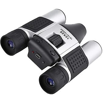 10x25 Binoculars Digital Camera Telescope, High Magnification lightweight and Compact for Outdoor Sport DVR Video Record,(silver)
