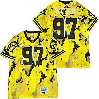 Men's Wutang Clan #97 Desert Camo Football Jersey, Stitched Movie Football Jerseys Sports T Shirt Size S-xxxl