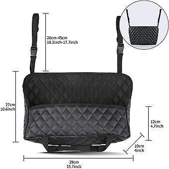 Car Pocket Handbag Holder Pu Leather,car Pu Leather Organizer,seat Back Net Bag,(black)