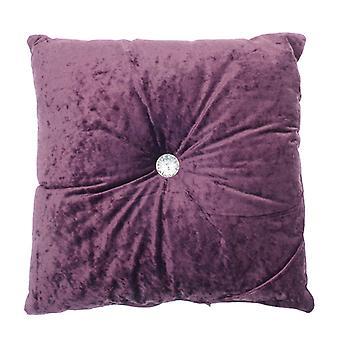 Country Club Plum Opulence Button Cushion, 43 x 43cm