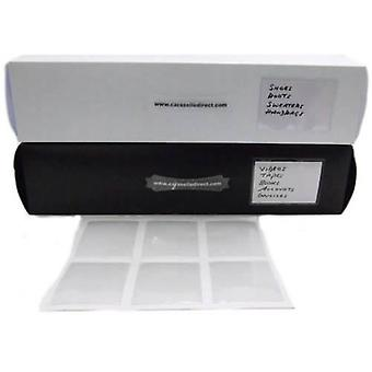 6x clear adhesive pockets 113 x 81mm by Caraselle