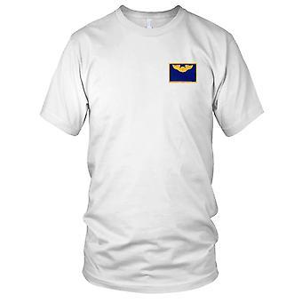 USAF Airforce - ailes de pilote armée de l'Air nom Patch brodé - bleu et or Mens T Shirt