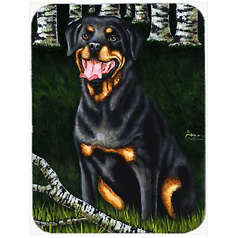 Backwoods Companion Rottweiler Glass Cutting Board Large