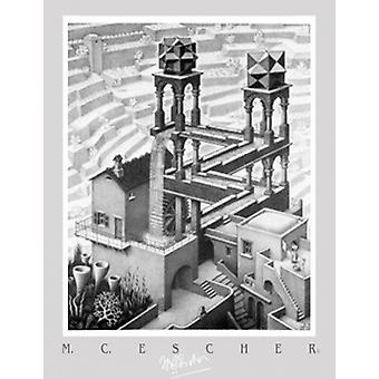 Wasserfall-Plakat-Druck von MC Escher (20 x 28)