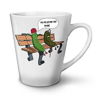 Getting Old Pickle Funny NEW White Tea Coffee Ceramic Latte Mug 12 oz | Wellcoda