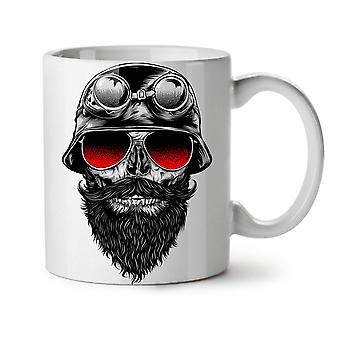 Biker Red Glasses Skull NEW White Tea Coffee Ceramic Mug 11 oz   Wellcoda