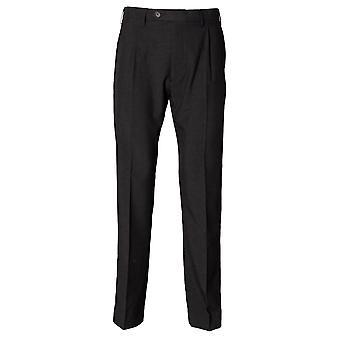 Henbury Mens Polyester Single Pleat Workwear Trousers