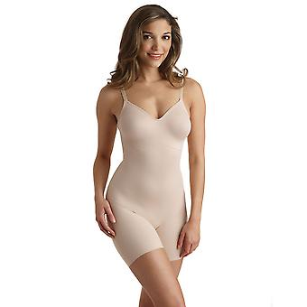 Naomi and Nicole 7340 Women's Shapewear Nude Solid Colour All In One Body