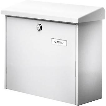 Burg Wächter 4120 COMFORT 913 W Letterbox Steel plate White Key