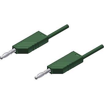SKS Hirschmann MLN 200/2,5 GN Testbly [Bananuttag 4 mm - Bananuttag 4 mm] 2,00 m Grön