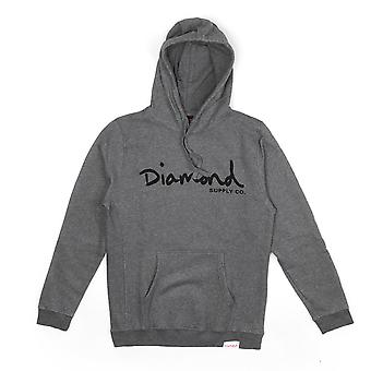 Diamond Supply Co. OG Script Core Hoodie Gunmetal