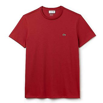 Lacoste Crew Neck Pima Cotton Jersey T-shirt, Red, X-Large