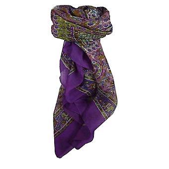 التوت البنفسجي هار الحرير وشاح المربعة التقليدية من الباشمينا & الحرير