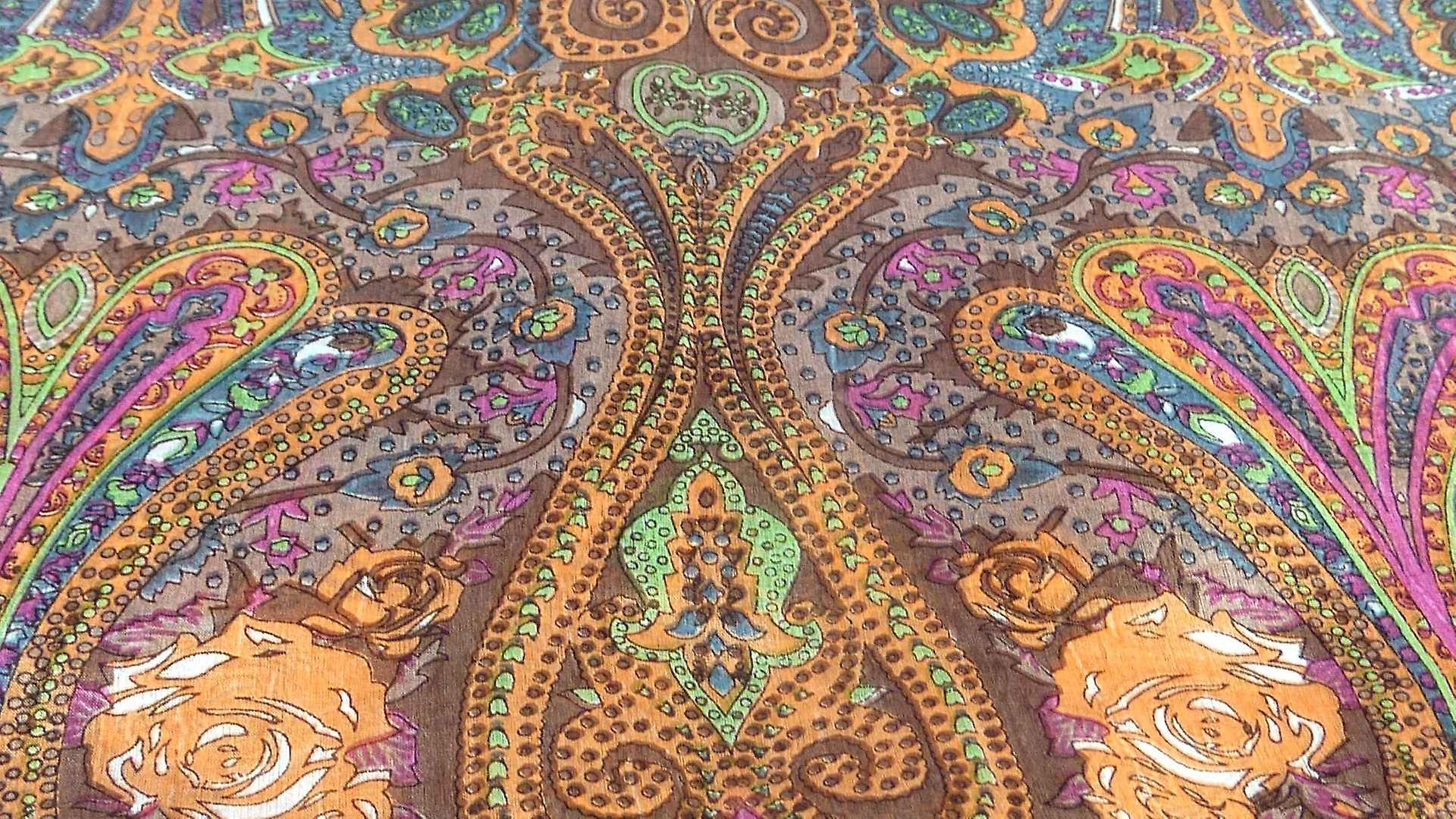 Mulberry Silk Traditional Long Scarf Worli Chestnut by Pashmina & Silk