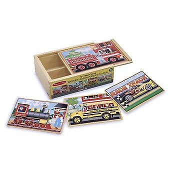 Melissa and Doug Puzzles in a Box Vehicle