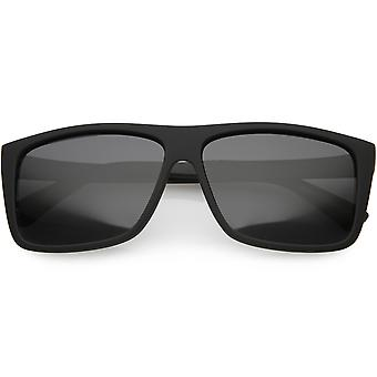 Männer Action Sport großen flachen oberen Rechteck Sonnenbrille polarisierte Linse 59mm