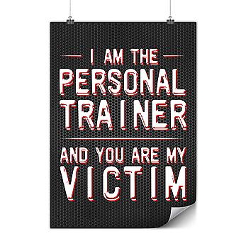 Matte or Glossy Poster with Personal Trainer | Wellcoda | *y3583