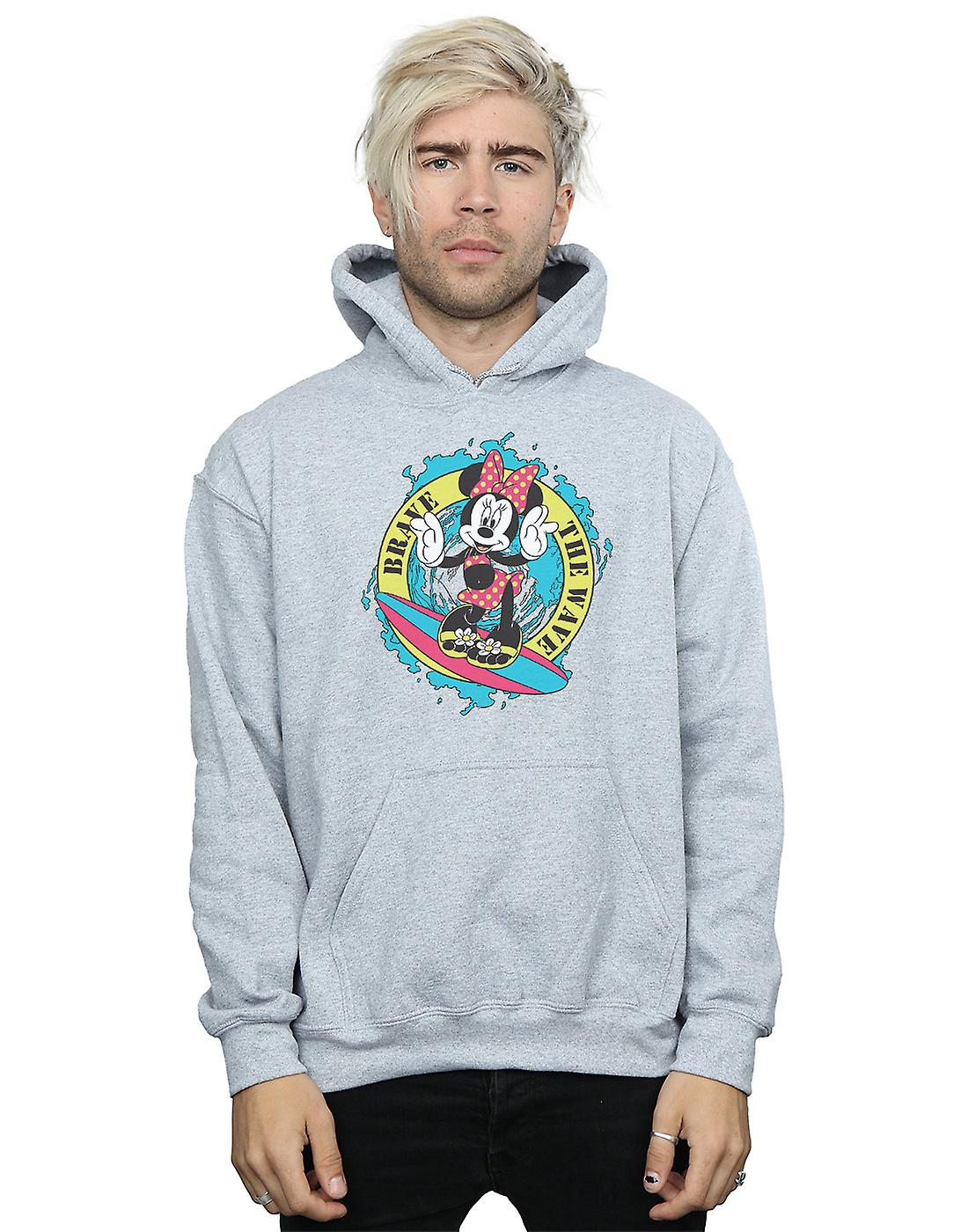 Disney Men's Minnie Mouse Brave The Wave Hoodie