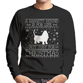 A Bassett Hound Is For Life Not Just For Christmas Men's Sweatshirt
