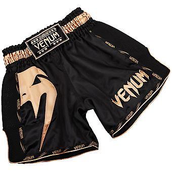 Gigante de Venum Muay Thai Shorts negro/oro