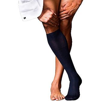 Falke No2 Finest Knee High Cashmere Socks - Dark Navy