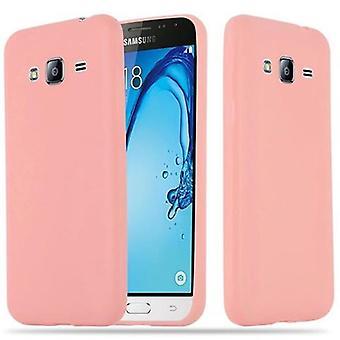 Cadorabo Case voor Samsung Galaxy J3 2015 Case cover-mobiele telefoon geval gemaakt van flexibele TPU silicone-silicone geval beschermende case ultra slanke zachte terug Cover Case bumper