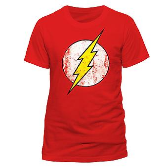 De Flash T-Shirt unisex gebarsten logo rode Flash