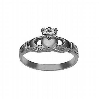 Дамы серебряные 9x24mm Клэдда кольцо размер J