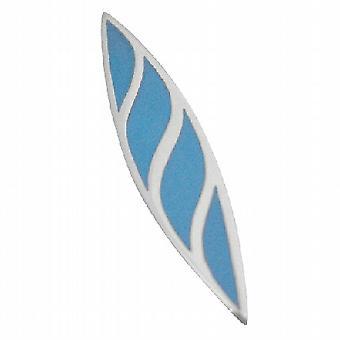 Sterling Silver Designer Turquoise Leaf Pendant