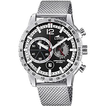 Lotus watch chronograph quartz men with stainless steel strap 10137/3