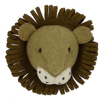 Fiona Walker England Lion Mini Felt Animal Head, Wall Mounted