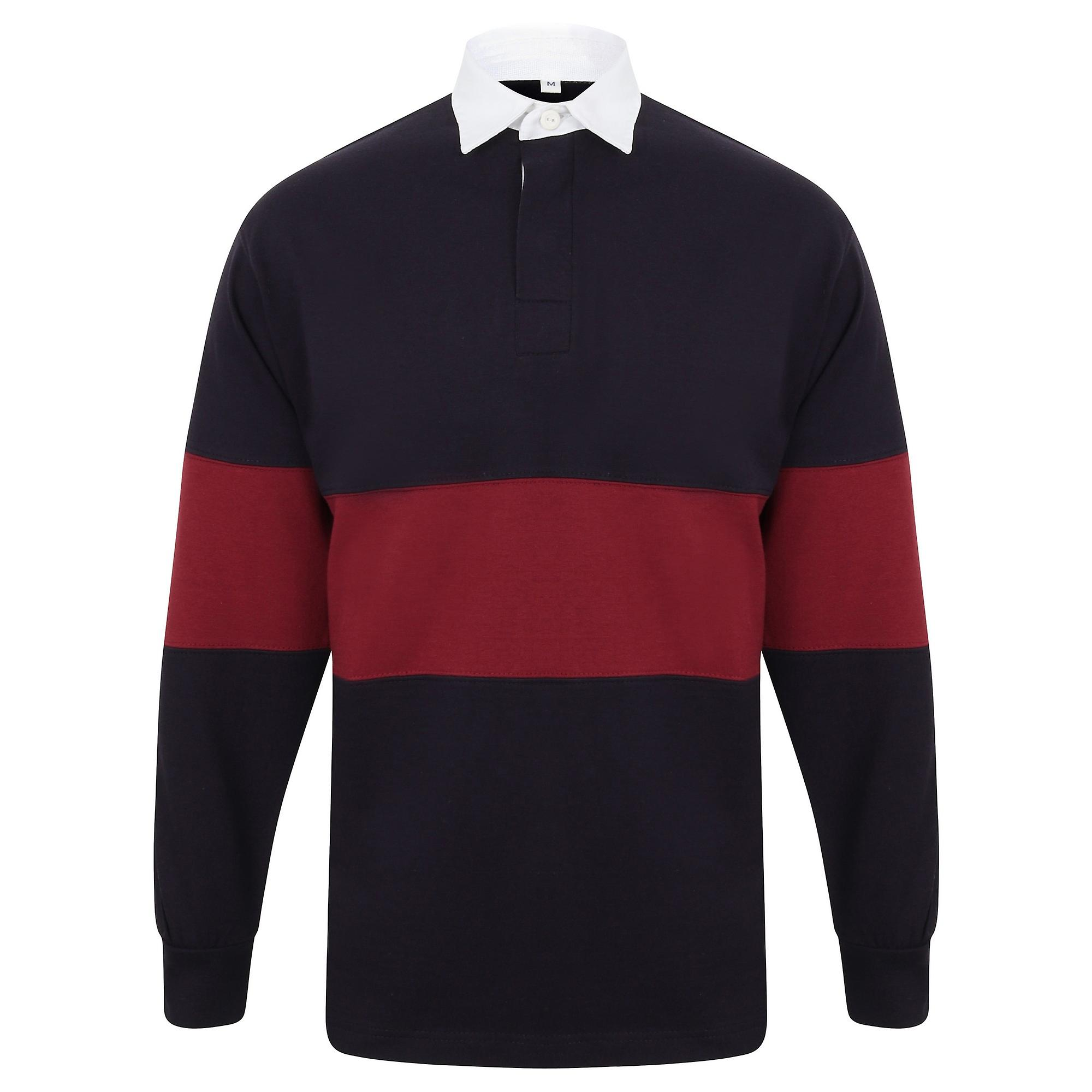 -Traditional Heavyweight Jersey FR007 Front Row Panelled Tag-Free Rugby Shirt