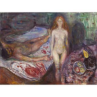 Kuolema, Edvard Munch, 50x37cm