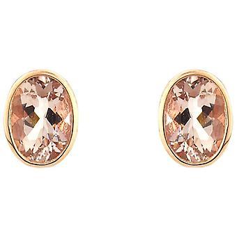 Mark Milton Large Oval Morganite Earrings - Rose Gold