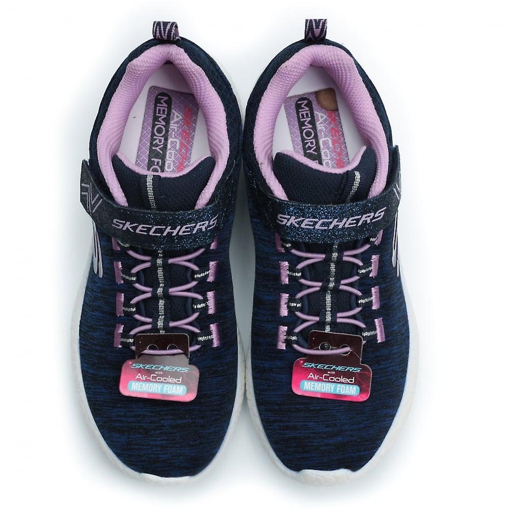 Skechers Burst Equinox Girl ' S Sneaker, Navy/lavender