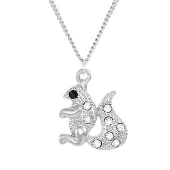 Eeuwige collectie Sookie eekhoorn kristal zilveren Toon hanger