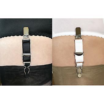 برديّة الملابس الداخلية 4 حزمة من الأشرطة الحمالات قابل للتعديل مع كليب