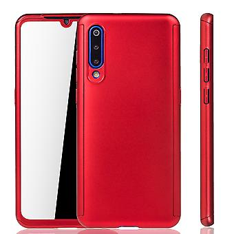 Xiaomi Mi 9 Phone Case Protection Case Full Cover Tank Protection Glass Rouge