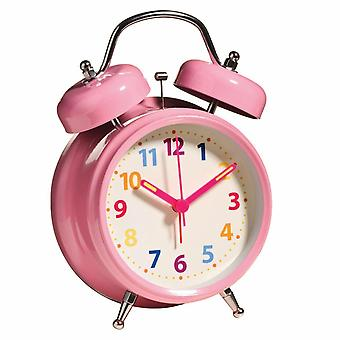 Wecker Twin Bell mit Licht Multi Farbe Nummer geringes Gewicht rosa