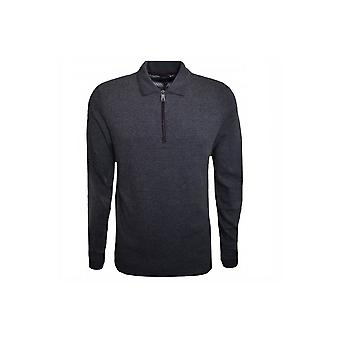 Ted Baker Men's Charcoal Caoco Long Sleeved Polo