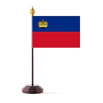 Liechtensteinin taulukon lippu kiinni ja pohja