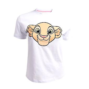Women's The Lion King Nala White Fitted T-Shirt