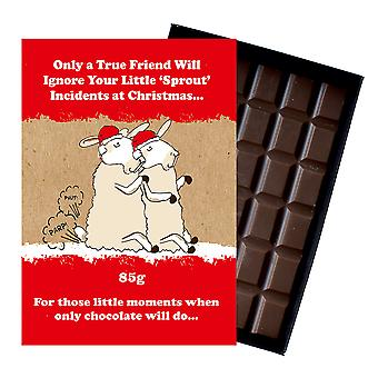 Funny Christmas Gift For Boyfriend Girlfriend Boxed Chocolate Xmas Present for Him or Her XMS113