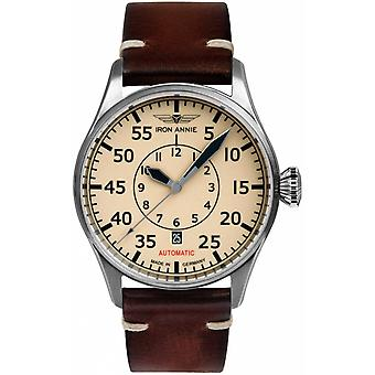 Iron Annie cockpit Automatic Analog Man Watch with Cowskin Bracelet 5156-5